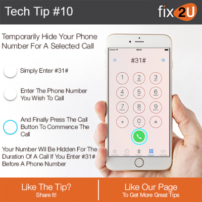iPhone Tech Tip #10 - Make your phone number private . Brought to by fix2U - Australia Largest On-site Device Repair Service. iPhone Repair That Comes To You.