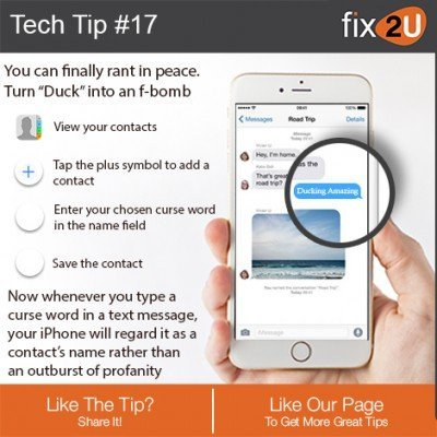 "iPhone Tech Tip #17 - Fix the ""Ducking"" issue. Brought to by fix2U - Australia Largest On-site Device Repair Service. iPhone Repair That Comes To You."