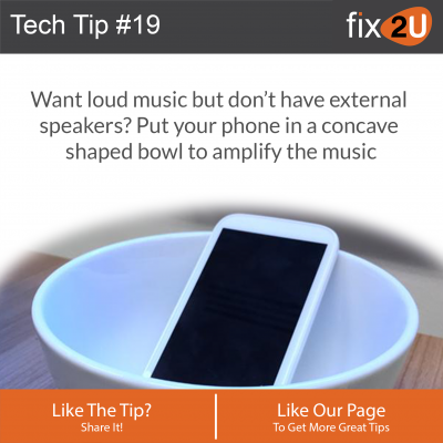 iPhone Tech Tip #19 - Amplify the sound from your phone. Brought to by fix2U - Australia Largest On-site Device Repair Service. iPhone Repair That Comes To You.
