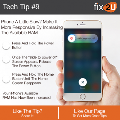 iPhone Tech Tip #9 - Make your iPhone faster with more available RAM. Brought to by fix2U - Australia Largest On-site Device Repair Service. iPhone Repair That Comes To You.
